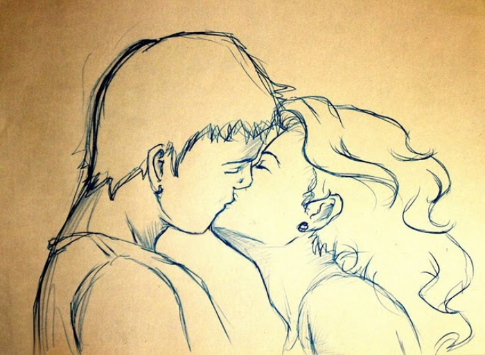 the_kiss_sketch