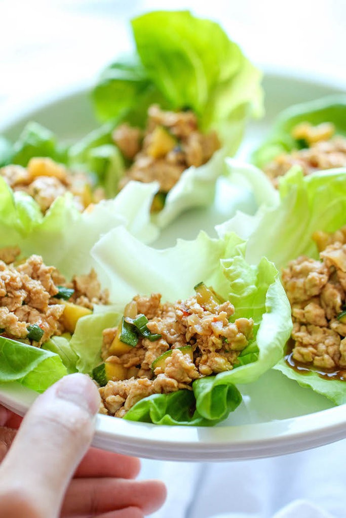 Kung-Pao-Chicken-Lettuce-Wraps