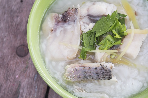 boiled rice fish soup