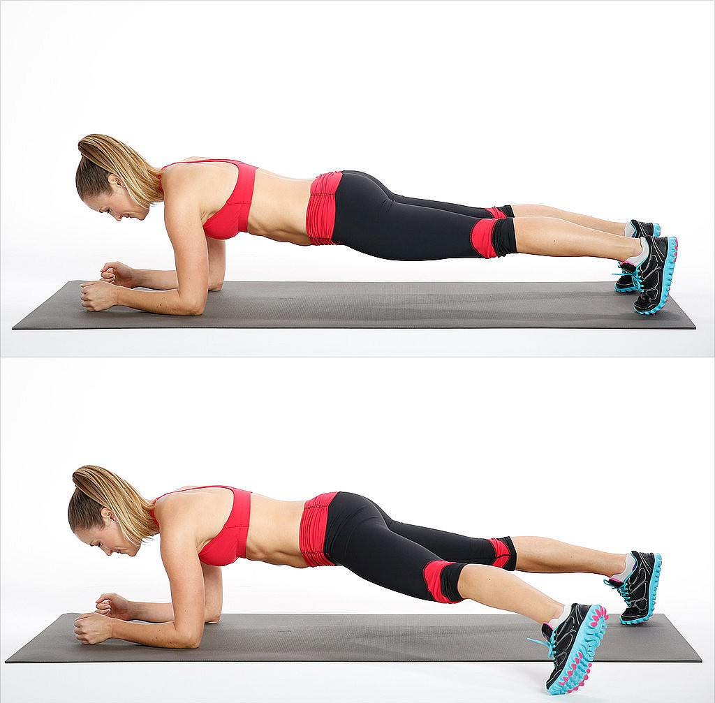 Elbow-Plank-Side-Step