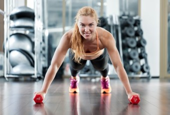 Woman workouts in the gym