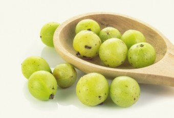Indian gooseberries with on white background