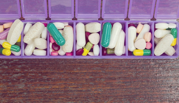 Medicines in a pillbox