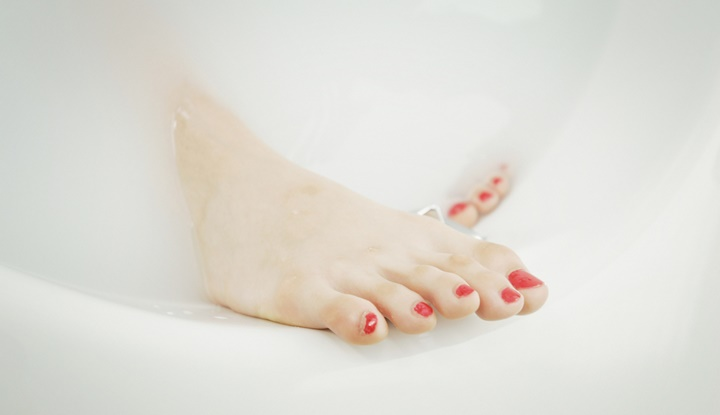 Red Nail and Beautiful Feet