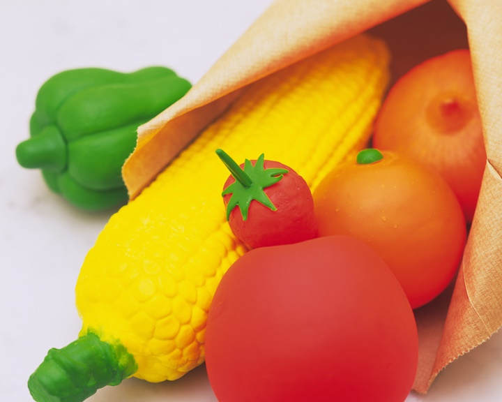 Clay Craft, Fruits and Vegetables, Close Up