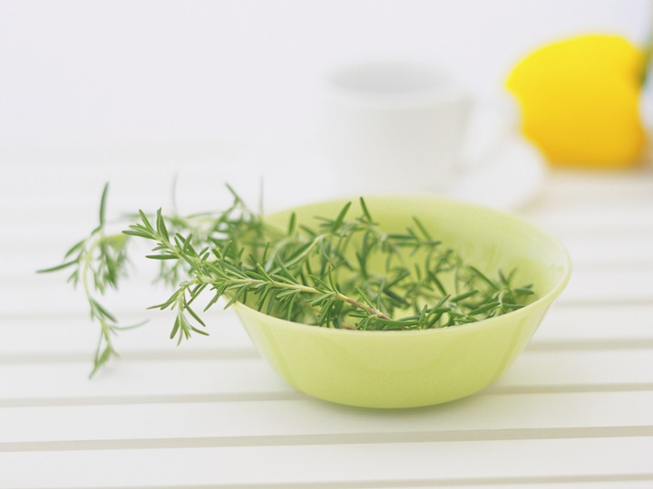 Rosemary on the bowl