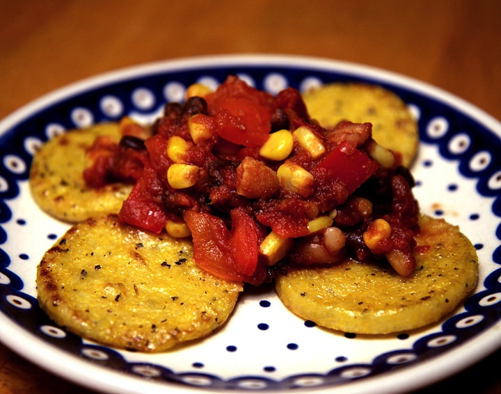 Polenta and Beans 1