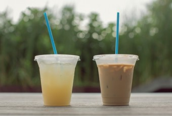 Delicious refreshing summer drinks,lemonade iced coffee