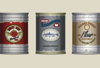 Food cans set