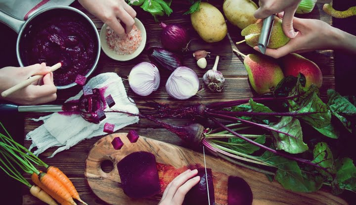 Cooking Beetroot soup