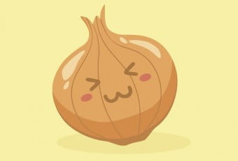 Cute Onion Vegetable Mascot Vector