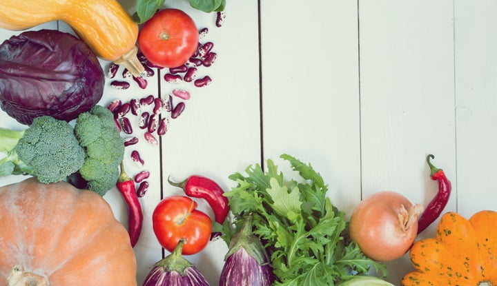 variety of colorful vegetables