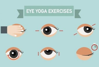 Exercises for eyes,infographic,vector illustration