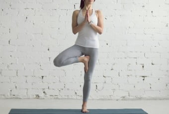 Yoga Indoors: Tree Pose