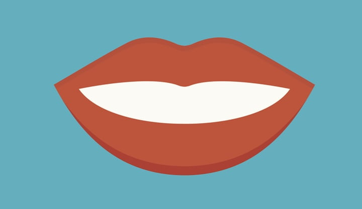 Feemale mouth isolated vector illustration