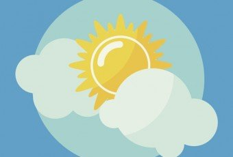 Sun icon vector illustration.