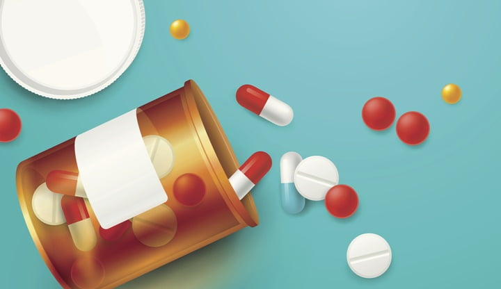 Pills Bottle Realistic Illustration