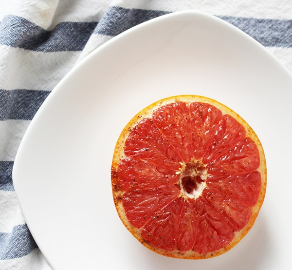 Spiced Honey-Broiled Grapefruit