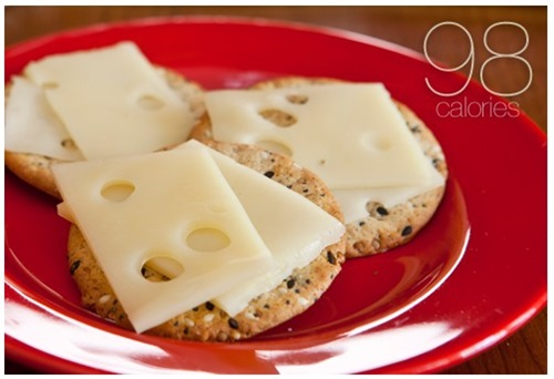 Three Crackers With Cheese