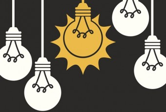 bulbs design over gray background vector illustration