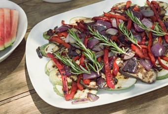 Dish of mediterranean vegetables