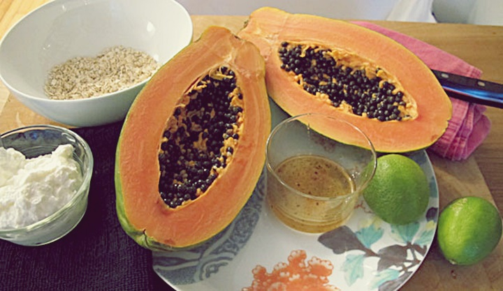 papaya-oatmeal 1