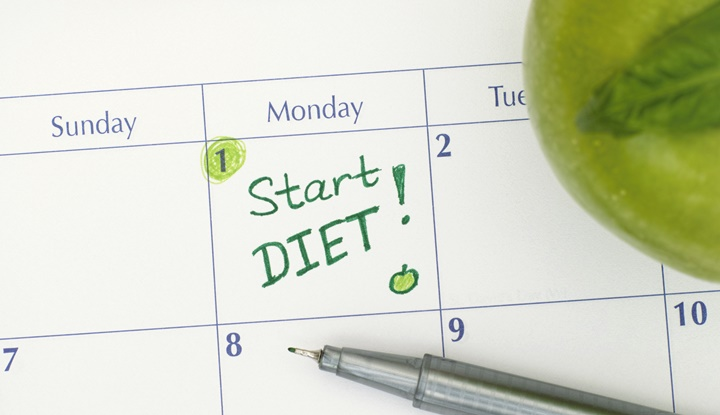 Reminder Start Diet in calendar