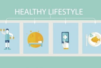Set of concept icons healthy lifestyle.