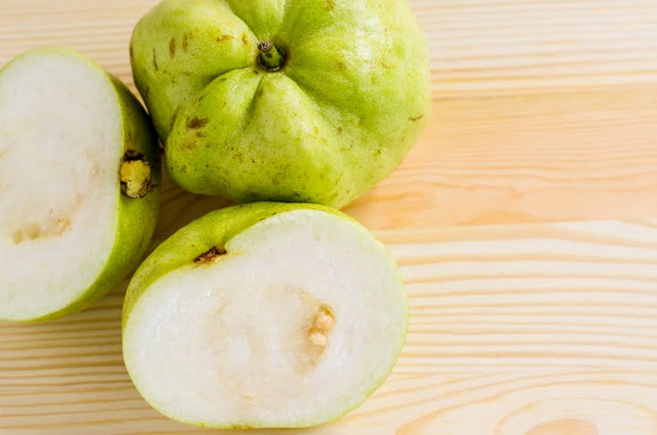 The tropical fruit high vitamin c, fresh guavas
