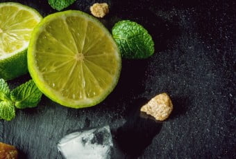 Ingredients for mojito or cocktail with tequila