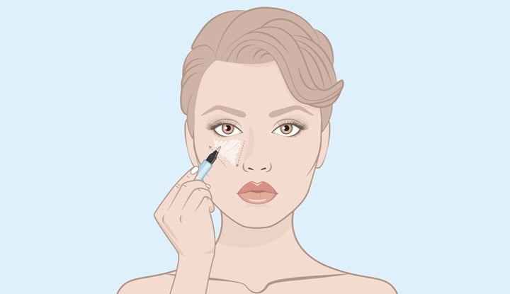 2-tips-down-concealer-under-the-eyes-professional